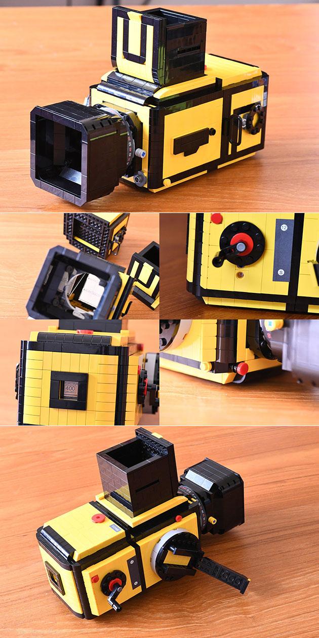 Photographer Builds Hasselblad 503CX Medium Format Film Camera Using LEGO Bricks