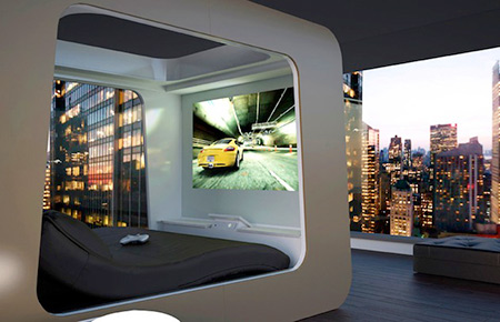 Futuristic Beds 7 pictures of hi-can, the futuristic bed with an integrated tv