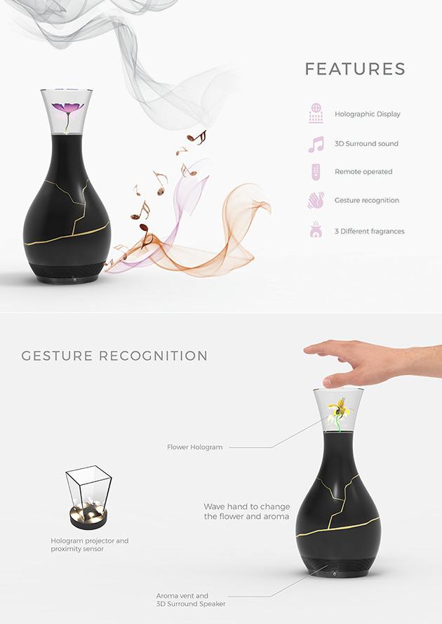 Hieko Hologram Vase
