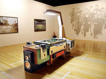 HiFi Foosball Table Is Stylish Packs Speakers TechEBlog - Foosball table light