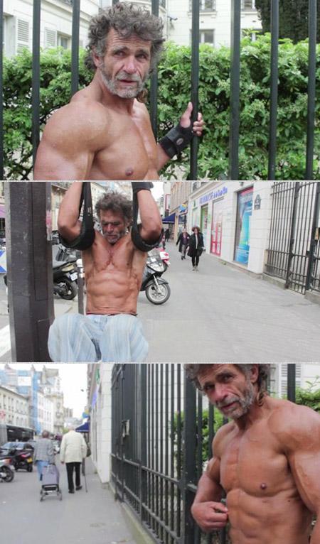 Homeless Bodybuilder Paris