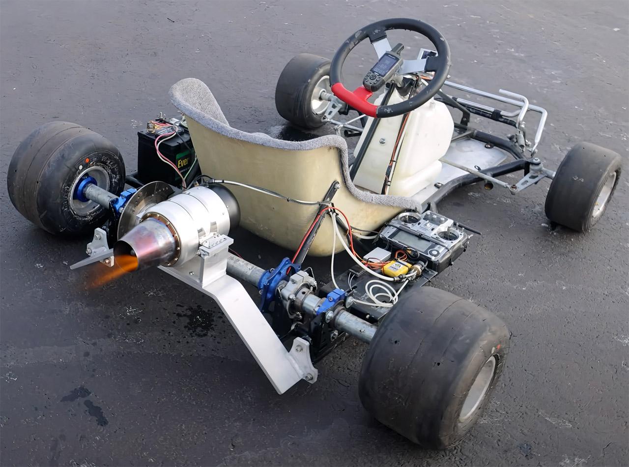 Homemade Jet-Powered Go-Kart