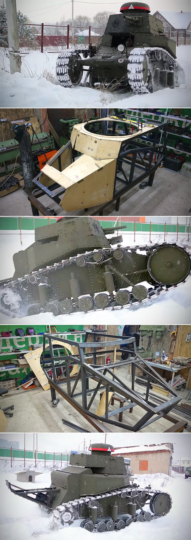 Homemade Russian MS-1 Tank