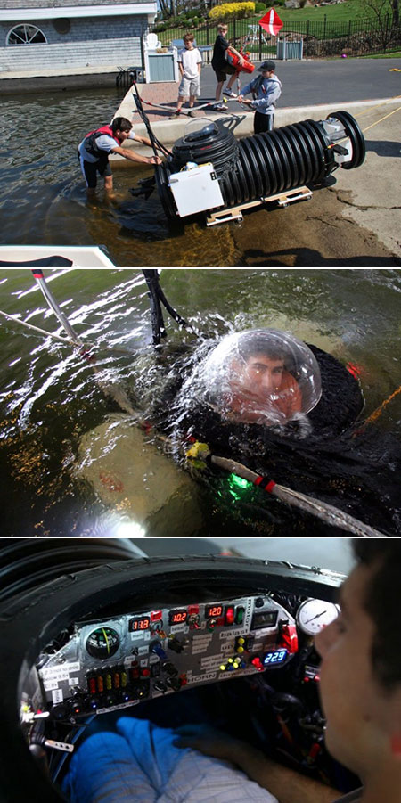 Homemade One Man Submarine