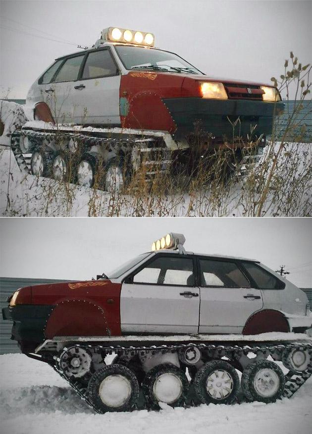 Homemade Tank Lada
