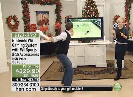 Home Shopping Network Host Accidently Breaks Tv With Wiimote