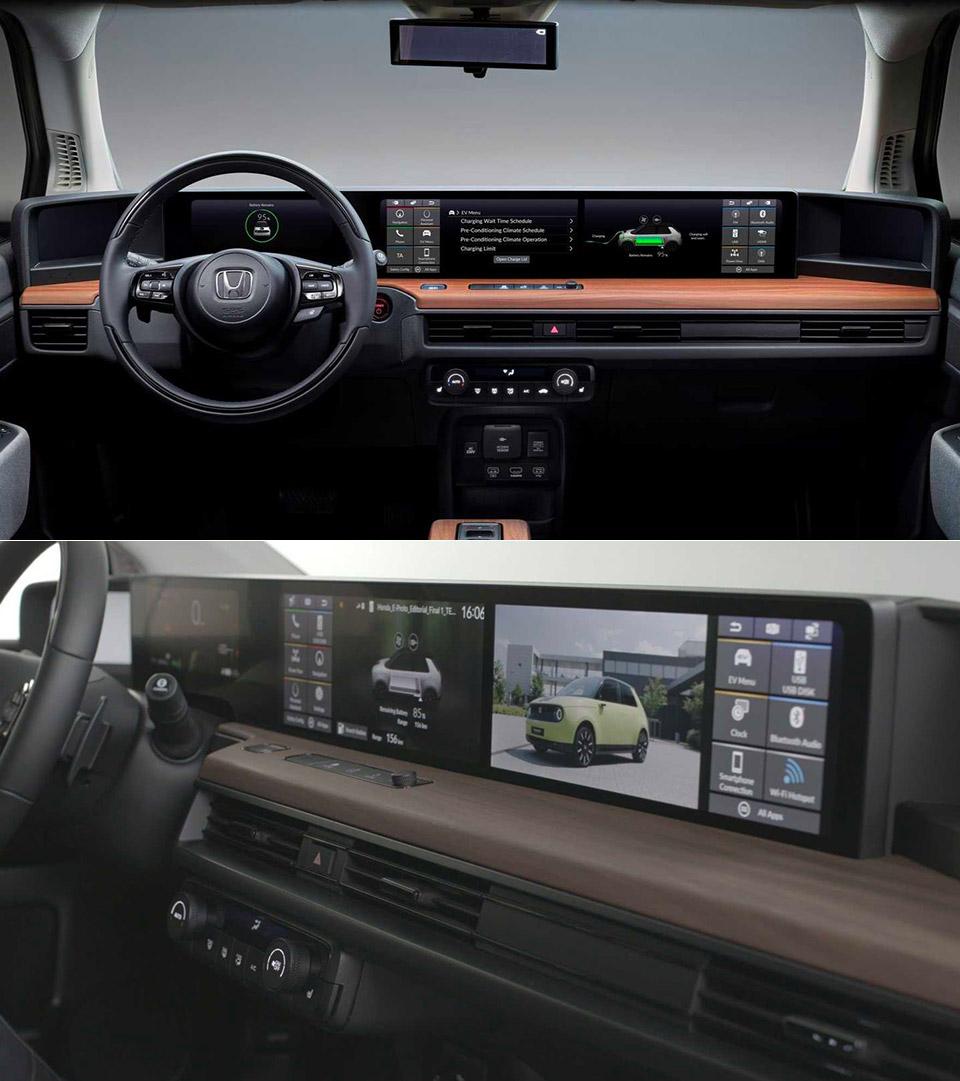 Honda e Prototype Dual Touchscreen