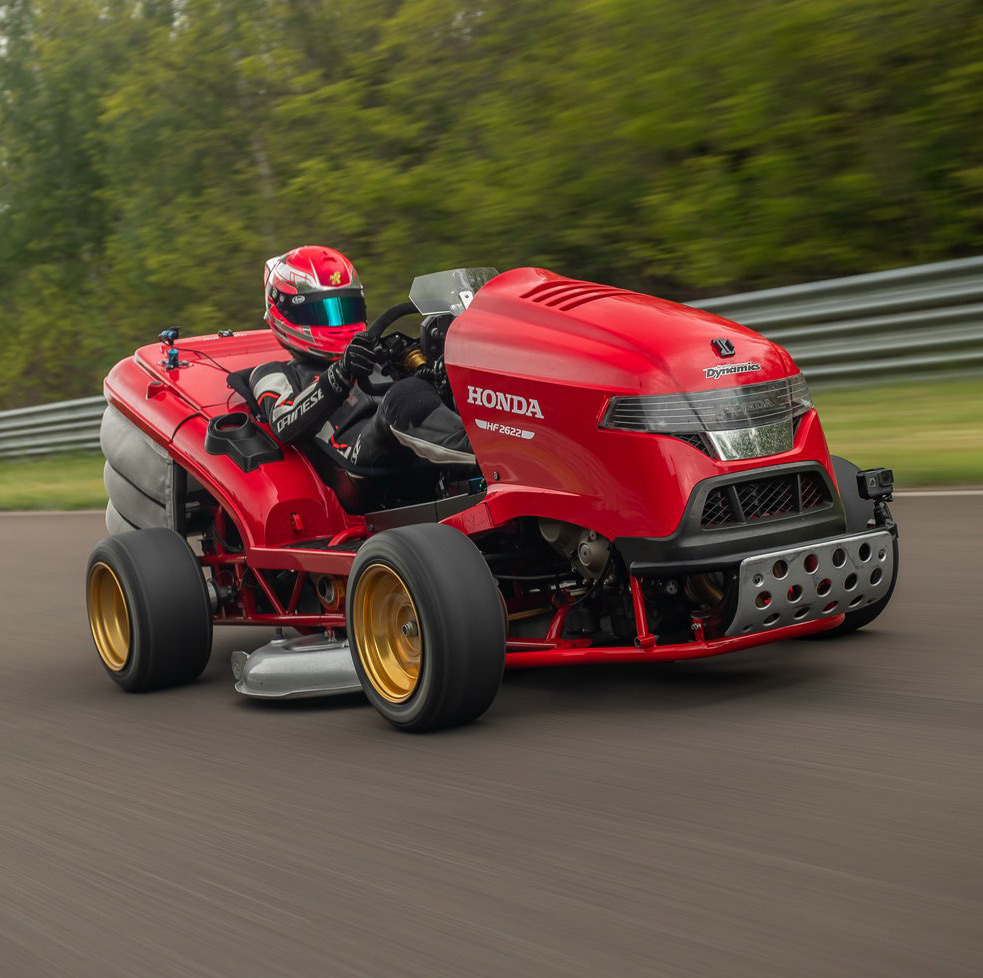 Honda Mean Mower V2 Fastest Lawnmower