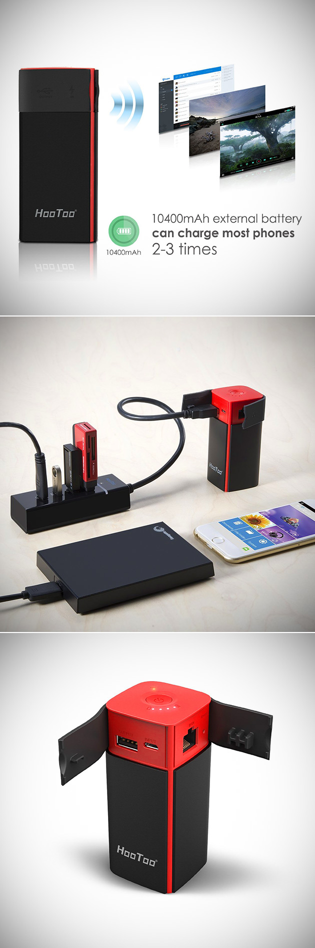 HooToo Travel Router Power Bank