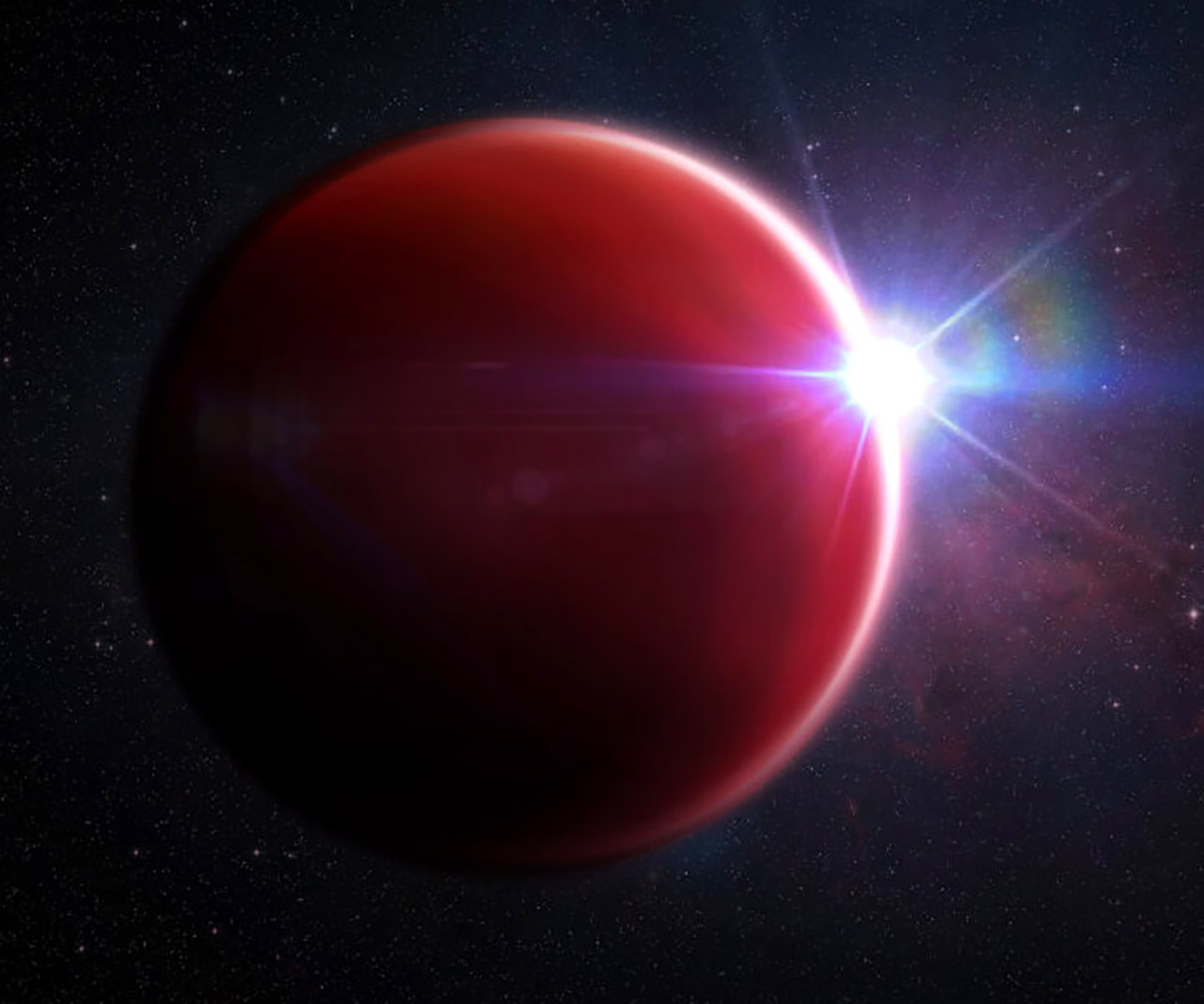 Hot Jupiter Exoplanet Cloudless