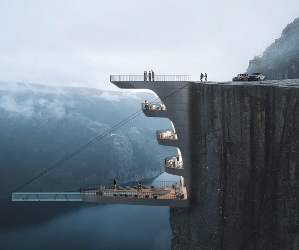 Hanging Hotel Norway Cliff
