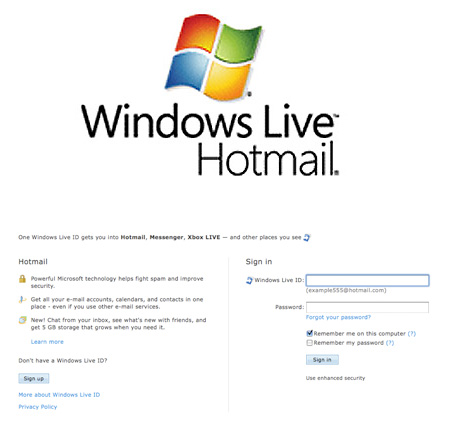 TechEBlog » Hotmail Down Service Unavailable