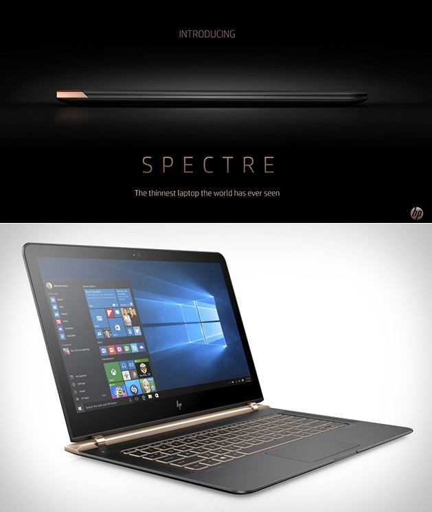 HP Spectre World's Thinnest Laptop