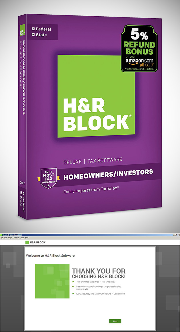 Get Your Taxes Done Early with H&R Software + 5% Refund