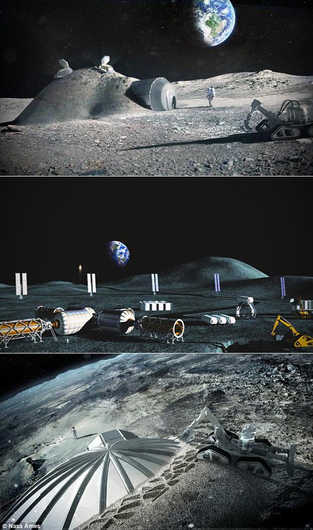 Human Base Moon