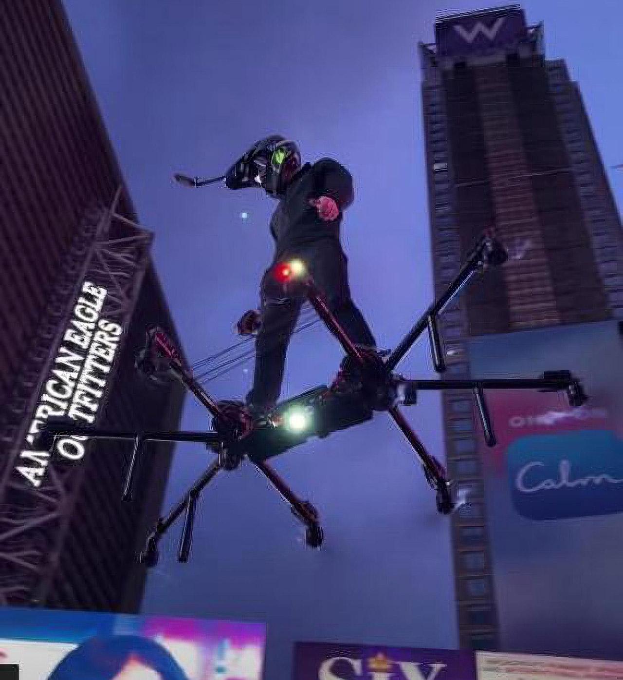 Hunter Kowald SkySurfer Hoverboard NYC Times Square