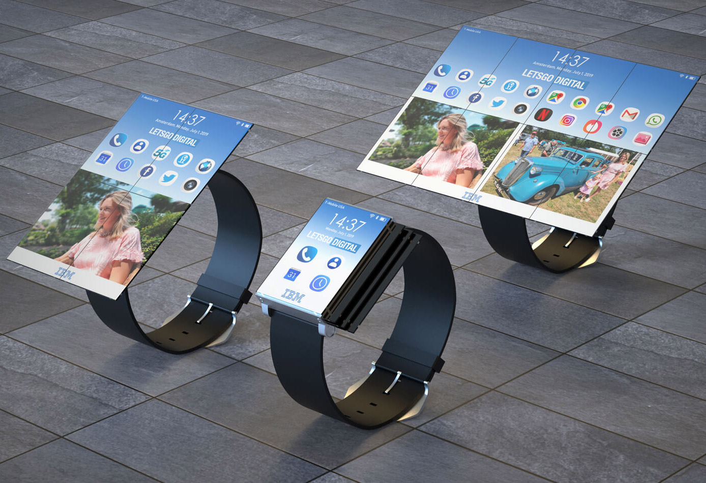 IBM Patent Smartwatch Tablet Computer