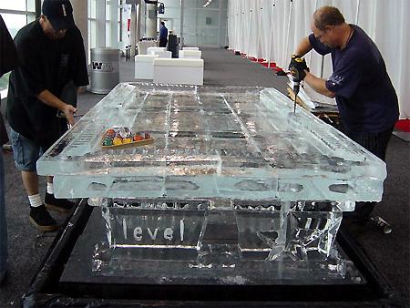 Amazing Ice Sculpture Pool Table TechEBlog - Handmade pool table