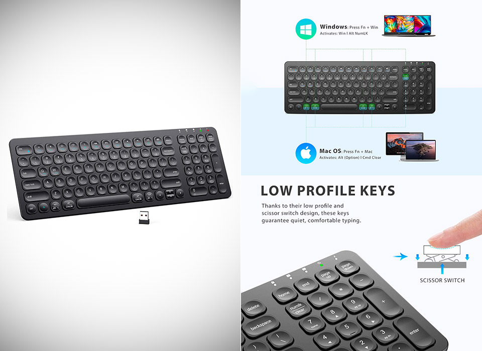 iClever GKA2-01B Wireless Keyboard
