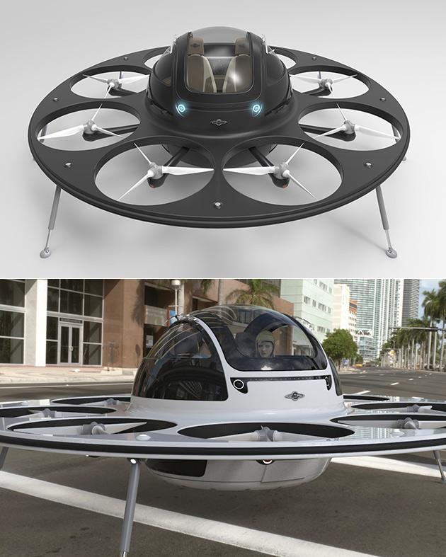 I.F.O. Manned Drone