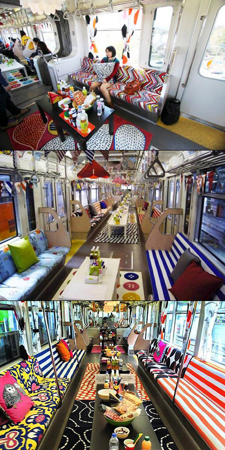 Entire Japanese Monorail Gets Transformed into Showroom by ...