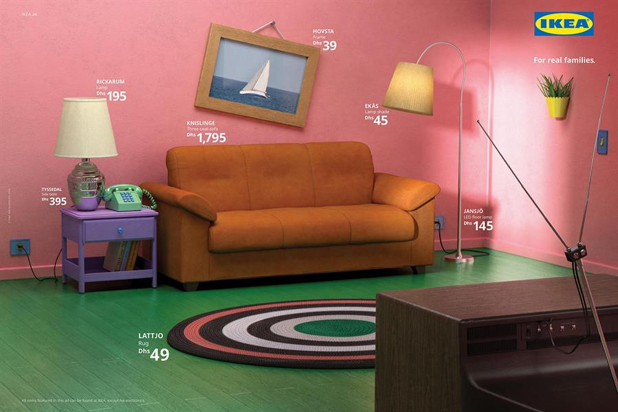 IKEA Living Room Simpsons Friends Stranger Things