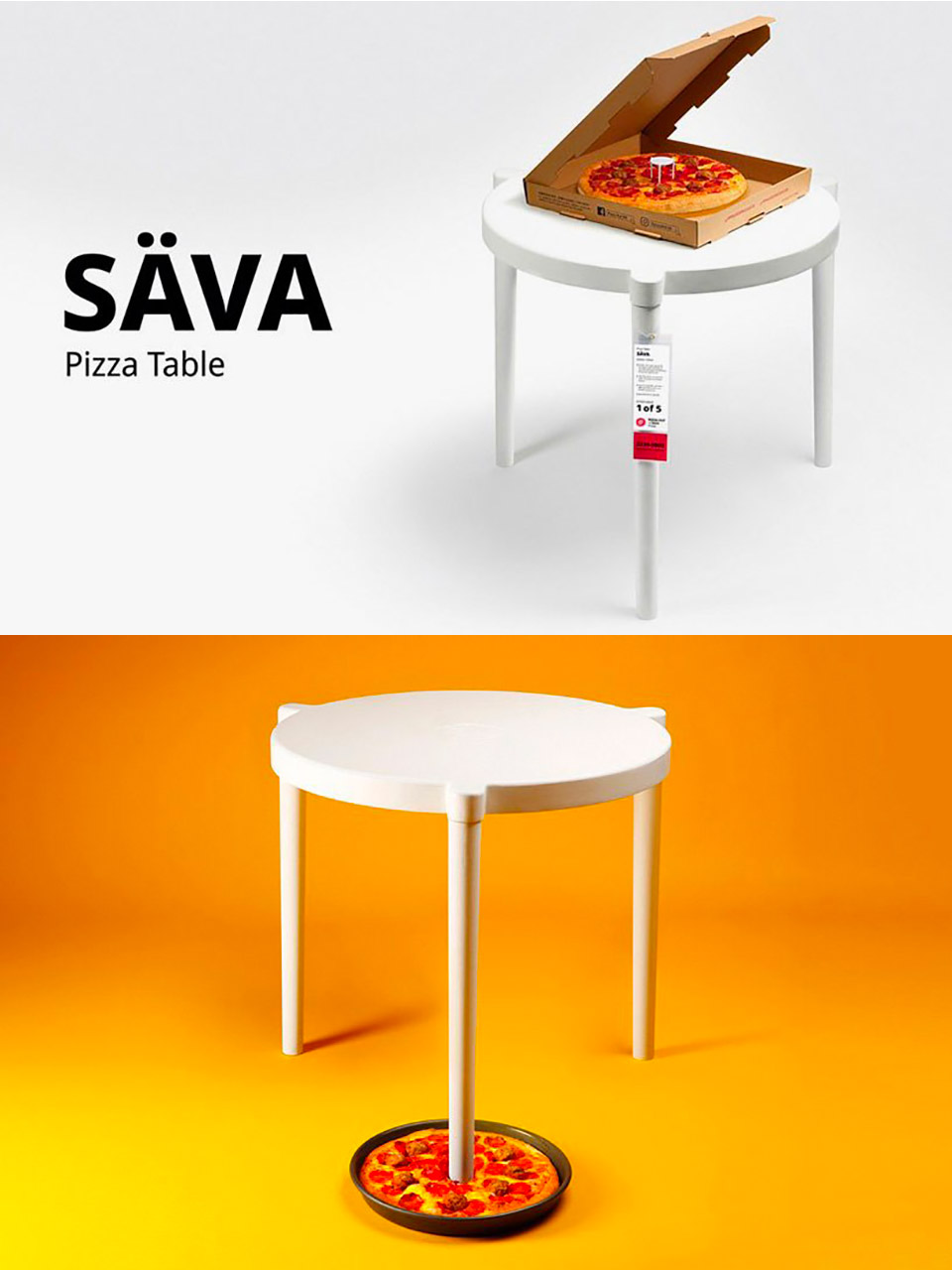 IKEA SAVA Pizza Table