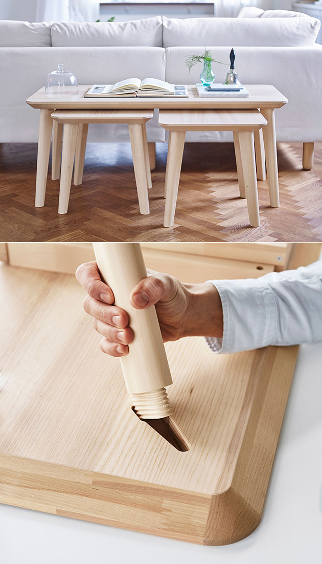 IKEA Wedge Dowel Snap Together Furniture