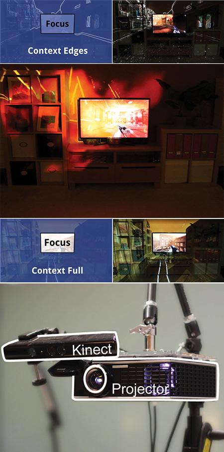 Un autre regard sur Microsoft IllumiRoom, technologie qui brouille les mondes virtuels et physiques