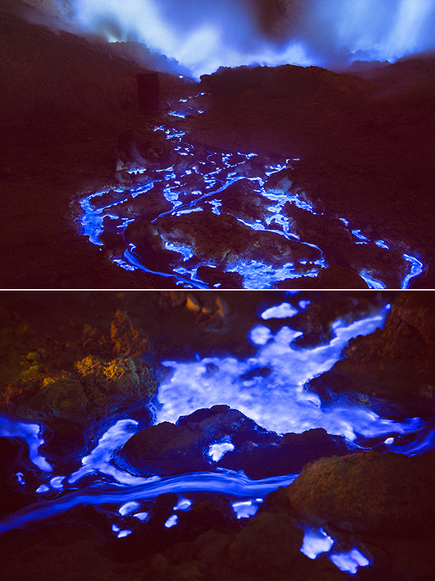 Indonesia Blue Lava Volcano