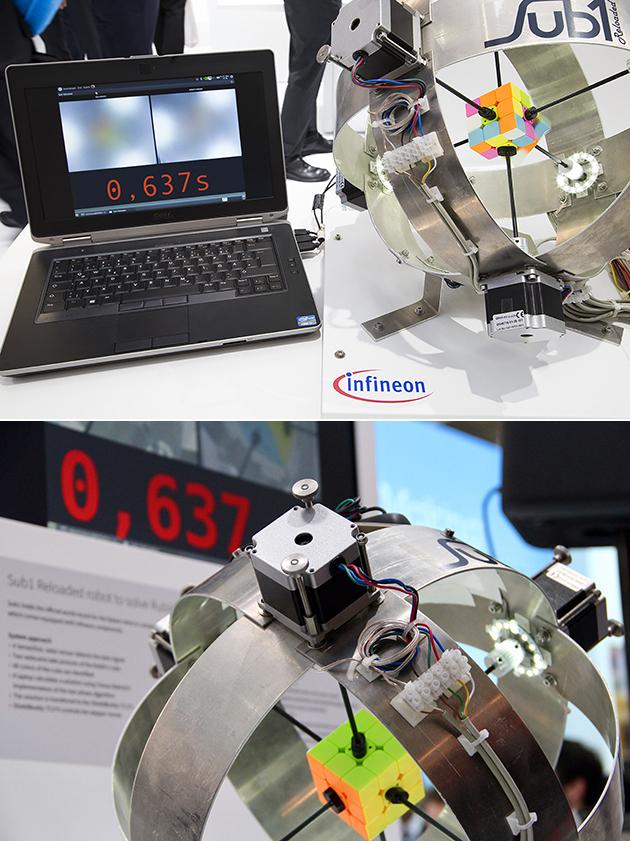 Infineon Rubik's Cube Machine