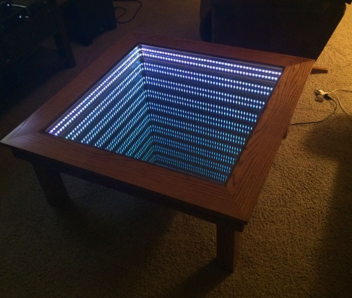 High School Student Builds A Mind Boggling Infinity Mirror