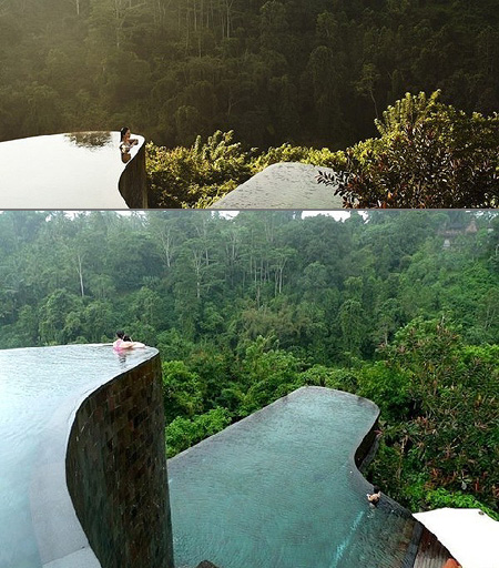 Stunning look at the ubud hanging gardens 39 infinity pools techeblog for Ubud hanging gardens swimming pool price