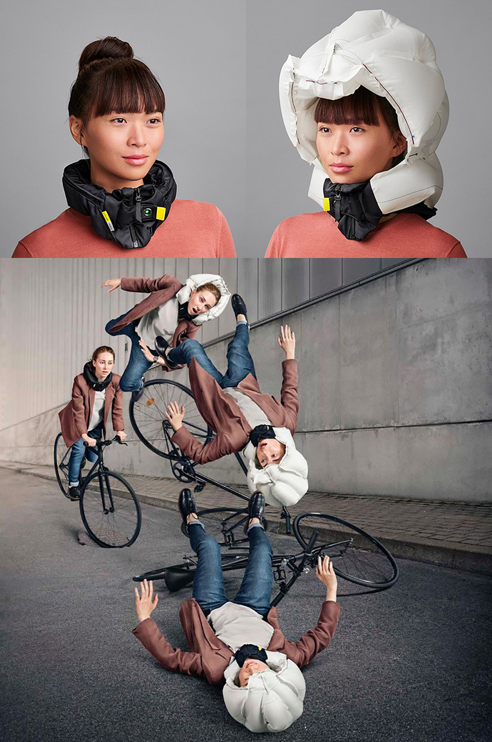 Inflatable Bicycle Helmet Airbag