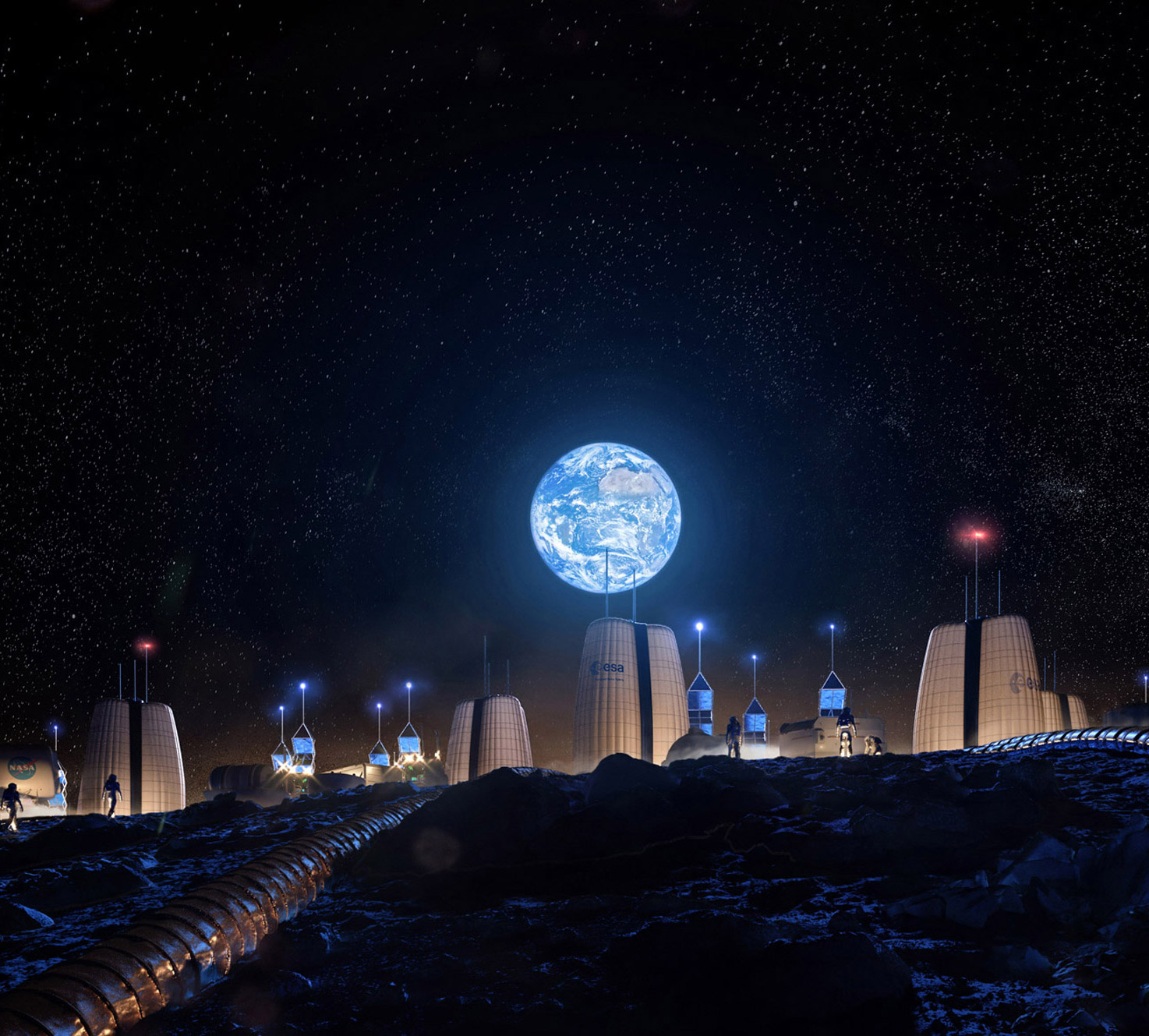 Inflatable Moon Village