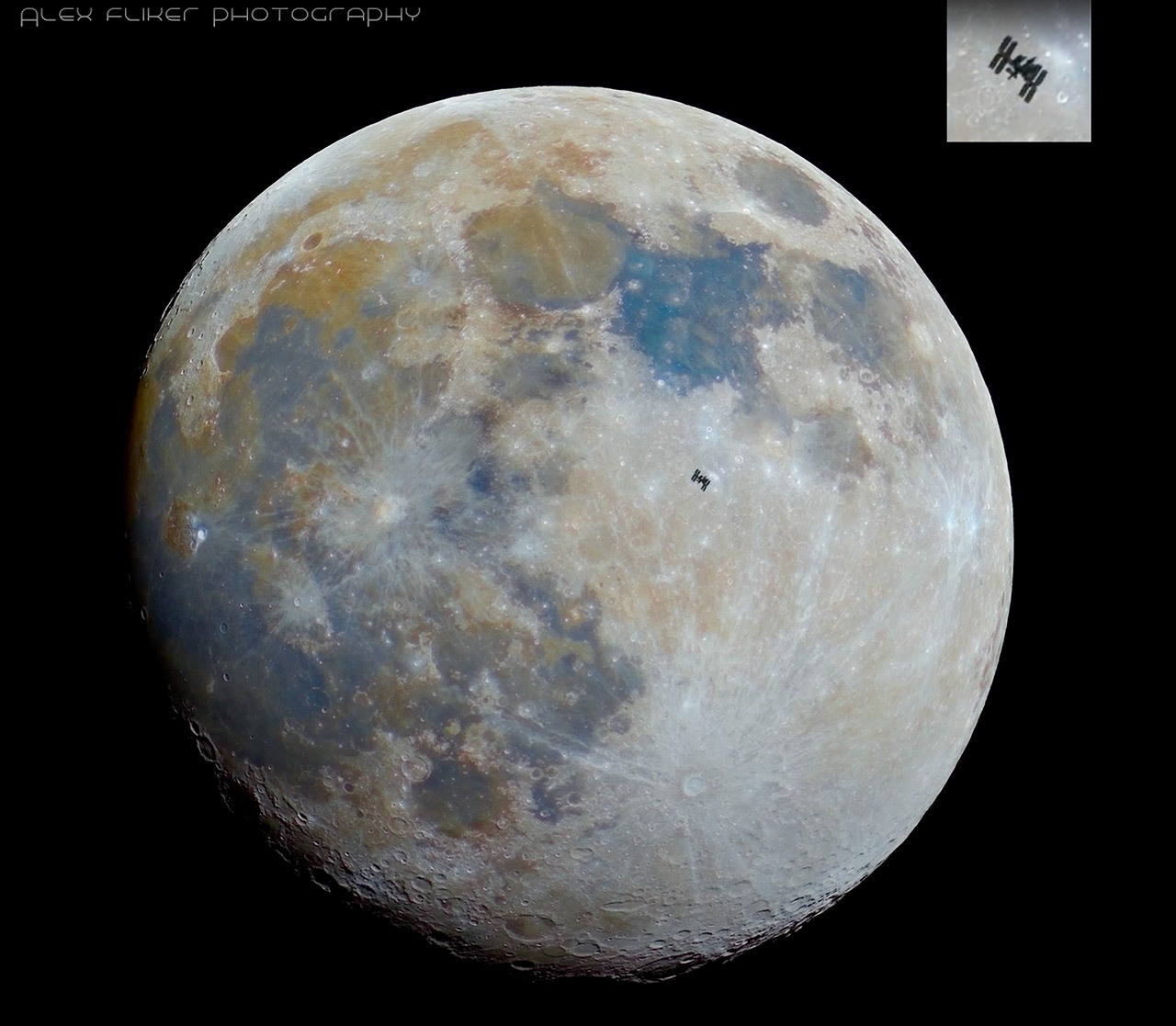 International Space Station Mineral Moon Transit