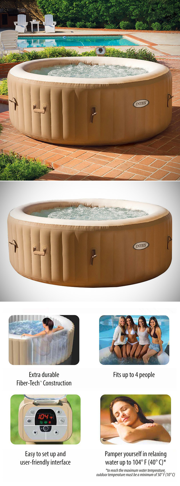 PureSpa Inflatable Hot Tub