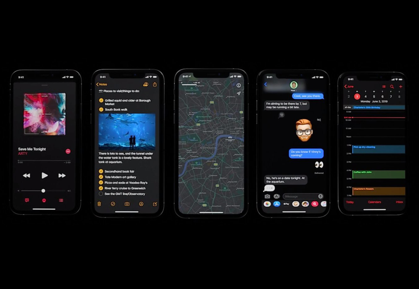 Dark Mode iOS 13 WWDC