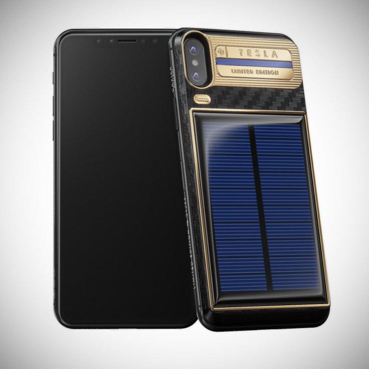 iPhone X Tesla Solar
