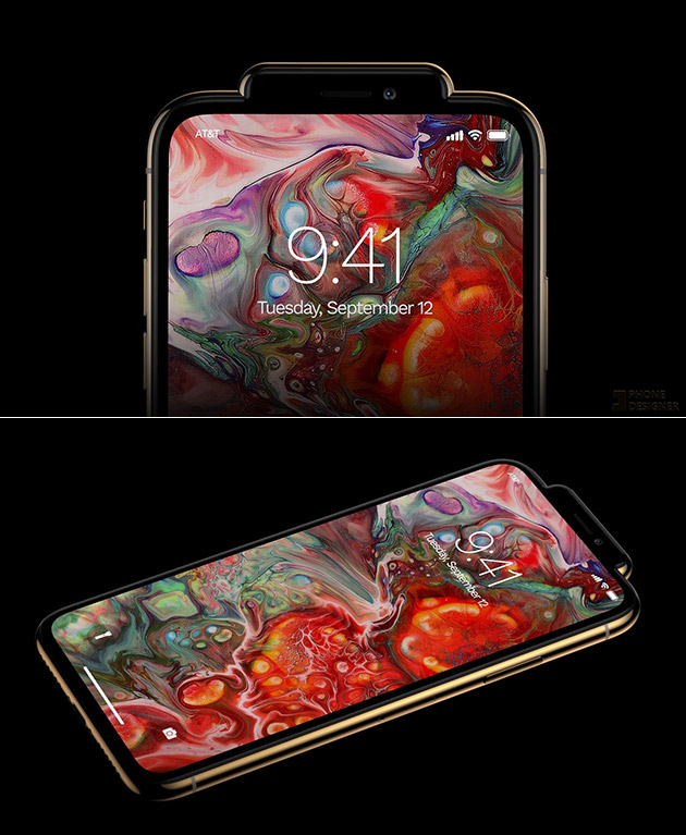 iPhone Xs / Xs Max / Xr Without a Notch, But a Wart Instead and 15 More Interesting Images