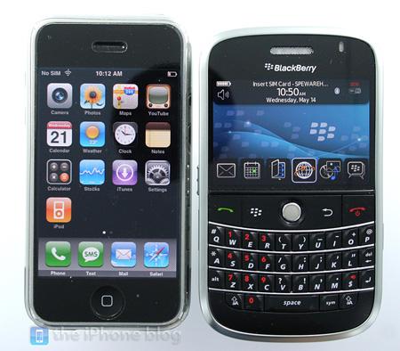 iPhone BlackBerry Bold