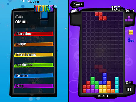 iPhone Tetris