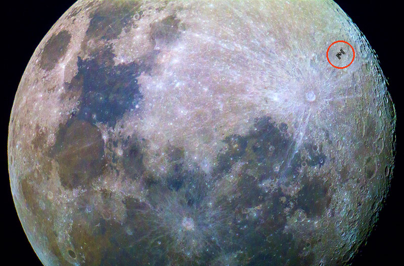 ISS Across Moon