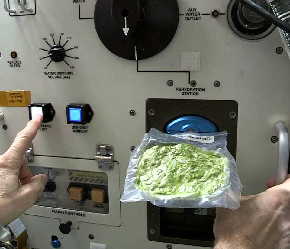 ISS Kitchen Cooking