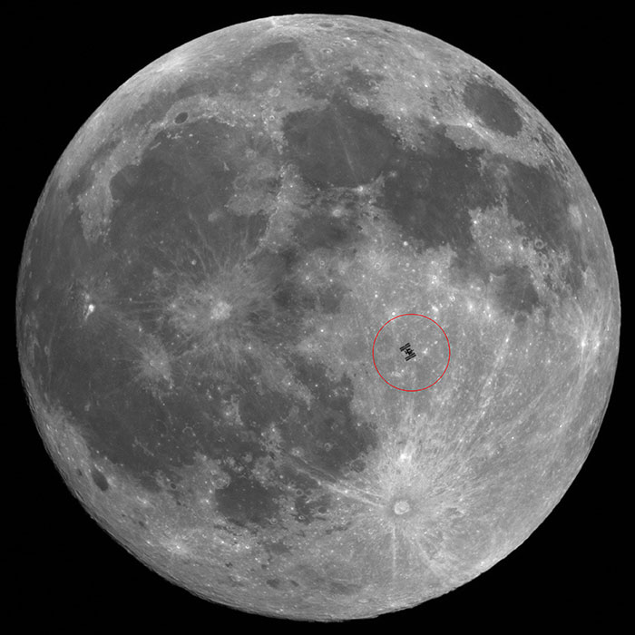 ISS Passing in Front of Moon