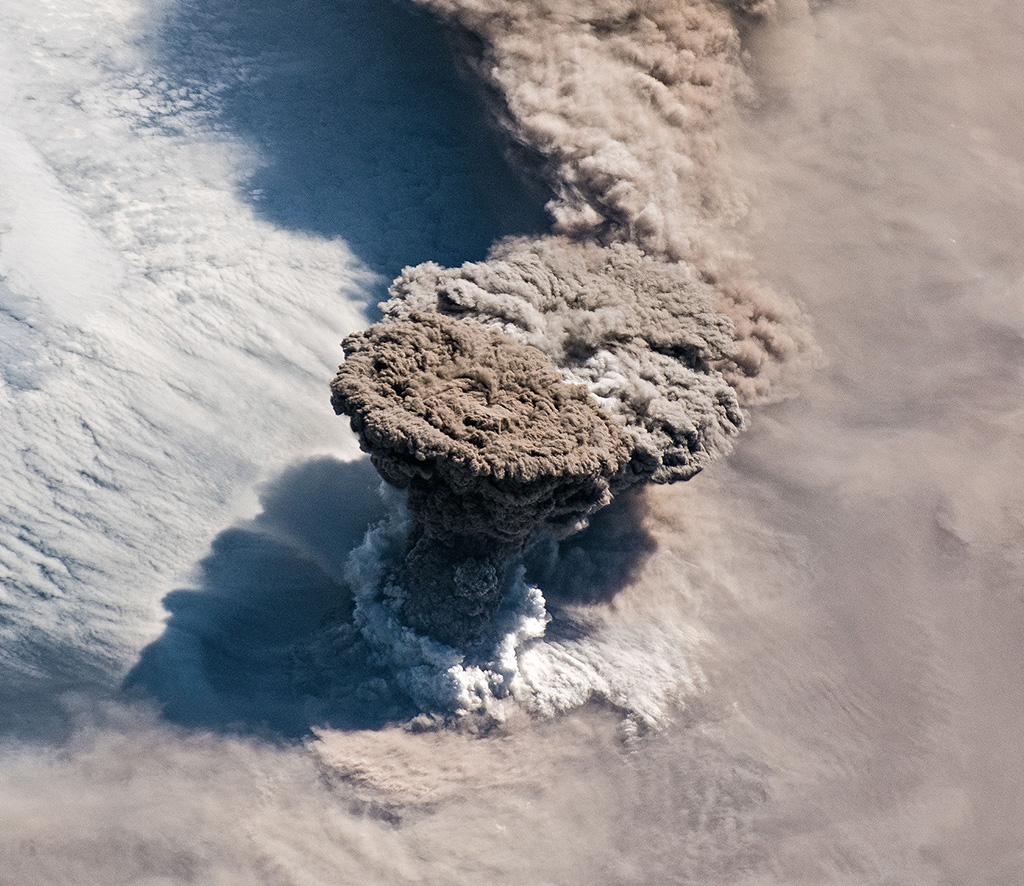 ISS Volcano Eruption