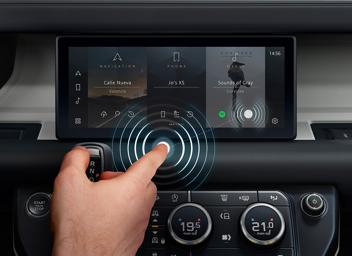 Jaguar Land Rover Predictive Touch Contactless Touchscreen