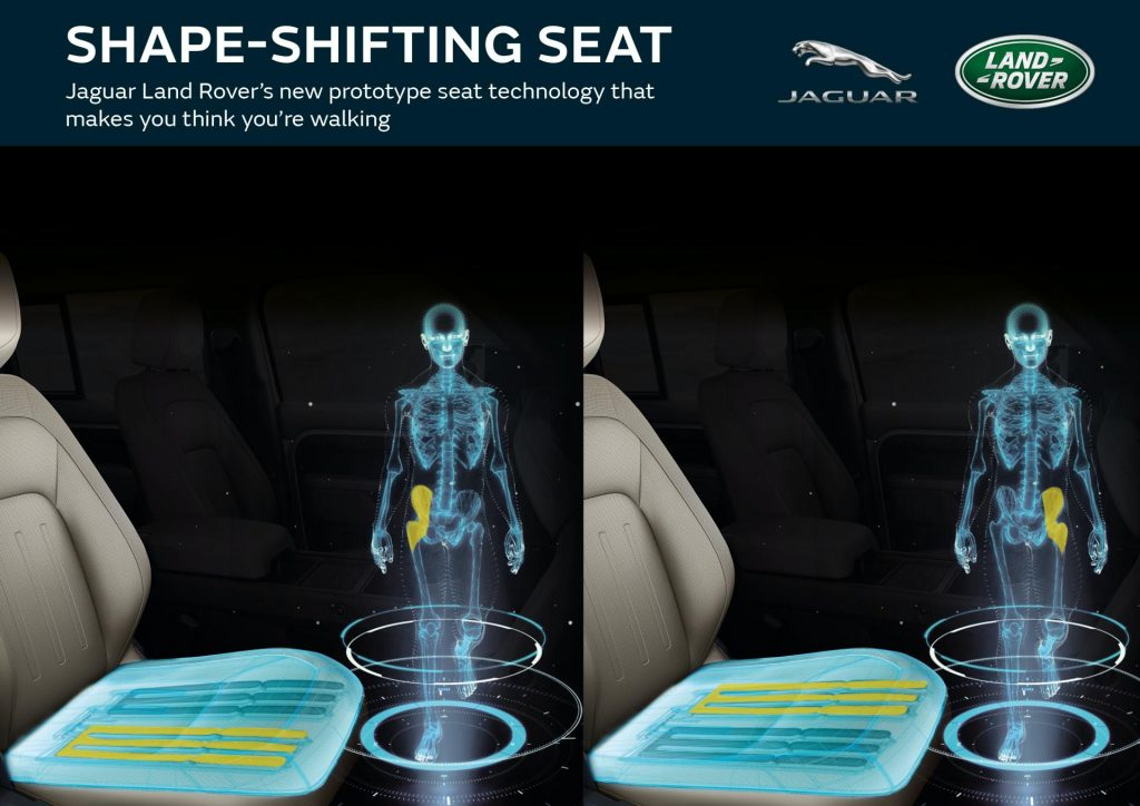 Jaguar Land Rover Shape-Shifting Seat