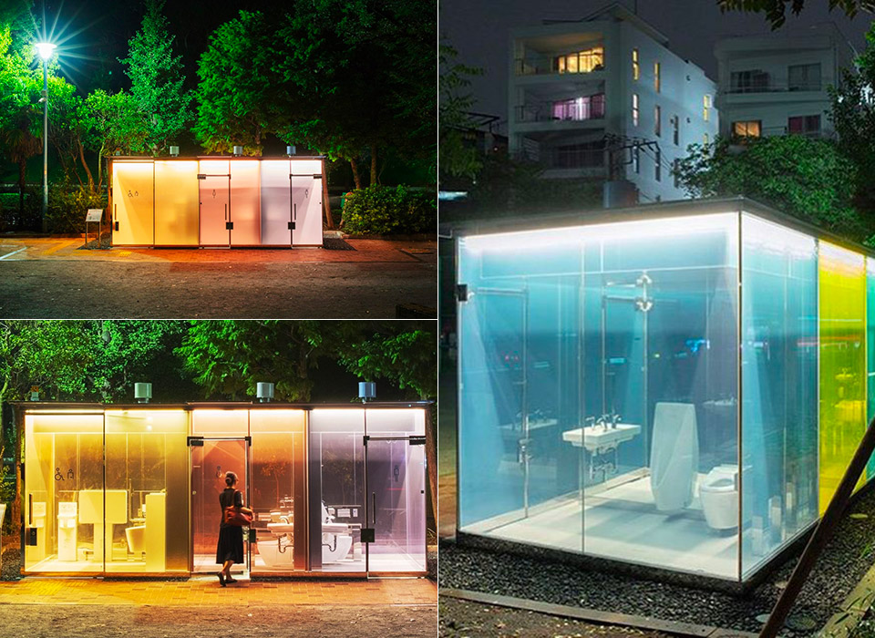 Japan Transparent Public Toilet Smart Glass