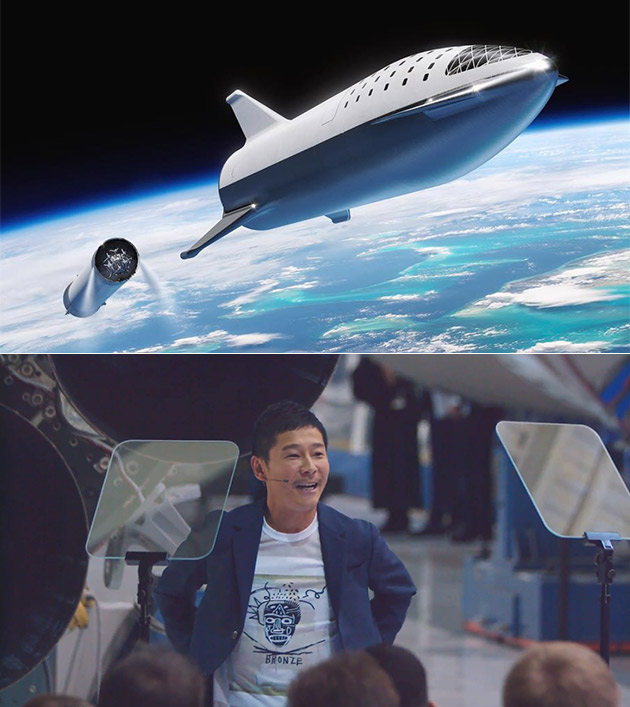 Japanese Billionaire SpaceX Moon